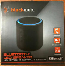 Blackweb LED Wireless Bluetooth Portable Speaker BWD19AAS03 - Black