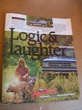 1989 Chevrolet S-10 Blazer Magazine Ad - The Logic & Laughter