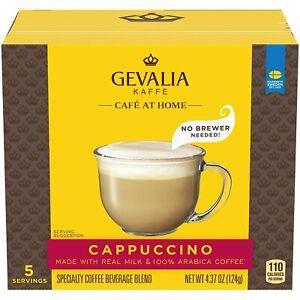 5 Serv Gevalia Kaffe Cappuccino Aribica Coffee Real Milk Instant 0520 Free Ship