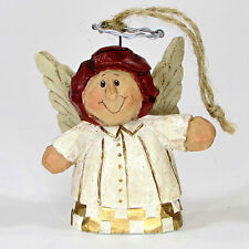 "Midwest of Cannon Falls Eddie Walker Angel 3"" Ornament Red Hair Gold White"