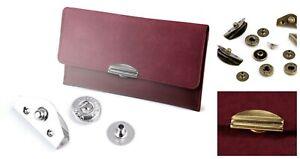 Set of Metal Hardware Purse Fastening Lock Closure Bag Purse Wallet
