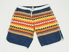 Billabong Blue Aztec Swimsuit Retro Surf Swim Board Shorts Mens 36