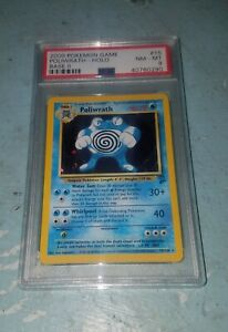 POKEMON POLIWRATH BASE SET 2 PSA 8 HOLO #15