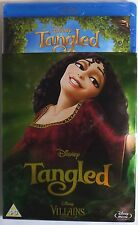 TANGLED Sealed Case BLU-RAY w/ VILLAINS SLIPCOVER Region-Free Walt Disney Movie