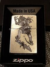 Original Zippo - Zentangle Skateboarder - 2017 - Neu