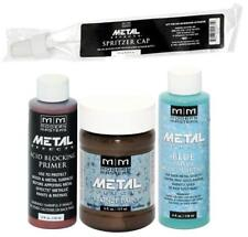 Modern Masters Metal Effects Bronze Paint and Blue Patina 4 oz Kit + Primer