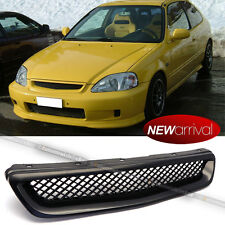 For: 99 00 Civic EK DX EX HX LX T-R ABS Mesh Black Front Hood Grill Grille