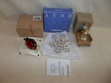 3 CHRISTMAS ORNAMENTS, AVON WHAT A STAR, ANGELIC REFLECTIONS, LADYBUG LOVE