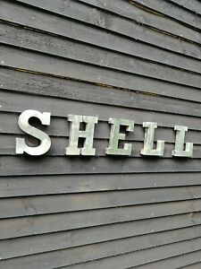 SHELL sign 3D metal letter set garage sign petrol station gas TO CLEAR VAC266