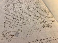 ANTIQUE MANUSCRIPT with multiple autographs 1719