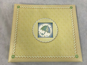 New Seasons Baby Memories/Photo Album Book Beige with Blue Umbrrella