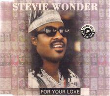 Stevie Wonder For Your Love promo UK CD Single Tamla Motown TMGCD 1437