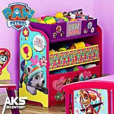 PAW Patrol Skye & Everest Kids Toy Organizer Bin Storage Box Bedroom Girls Gift