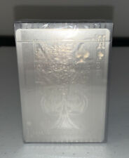 AQUA Invisible Plastic Playing Cards Poker Size Deck MPC Custom Limited Sealed