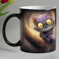 Smile Cat Animal Heat Sensitive Coffee Mug Cup Porcelain Magic Color Changing