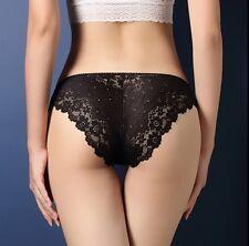 Women Seamless Lace Panties Briefs Underwear Lingerie Knickers Thongs G-String