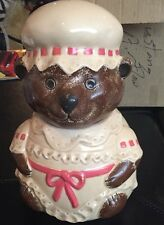 VINTAGE COUNTRY BEAR COOKIE JAR FRANKLIN PORCELAIN RARE LIMITED EDITION !! 1981