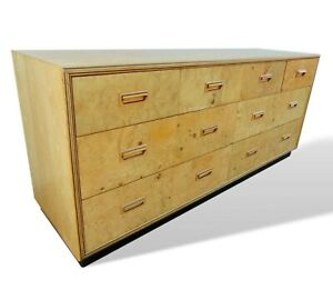 Henredon Scene Two Olive Burled Wood Dresser Credenza Mid Century Baughman Style