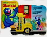 Sesame Street Beginnings Board Book GROVER'S FIRST DAY AT SCHOOL Educational-NEW