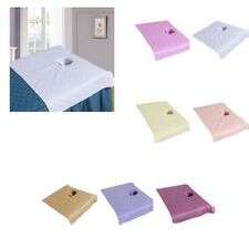 Pure Cotton Spa Massage Table Cover Cosmetic Bed Face Hole Towel 19x31inch