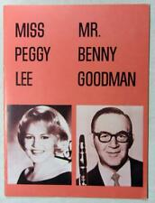 1965 PEGGY LEE & BENNY GOODMAN Performance Program – Melodyland Theatre Anaheim