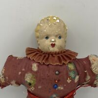 Vintage Composite Head Sewing Pincushion Doll