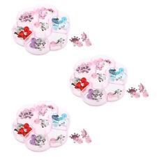 7 Pair Lovely Girls Kids Earrings Clip on No Ear Piercing Christmas Gift