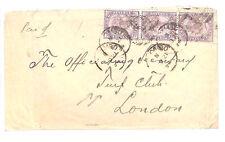 BA91 1894 CEYLON 15c Rate QV Cover *TURF CLUB* GB London HORSE-RACING SPORT