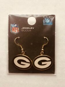 GREEN BAY PACKERS NFL LADIES EARRINGS - EXCELLENT QUALITY - BRAND NEW IN PACKAGE