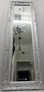 Silver Dressing Hallway Mirror Full Length Decorative French Style Tall 132cm