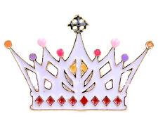 Corona de oro y esmalte/Tiara Broche/Pin