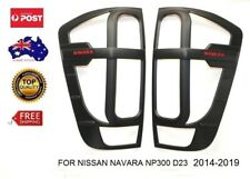 MATT BLACK TAIL LIGHT PROTECTOR COVER FOR NISSAN NAVARA NP300 D23 2014-2019