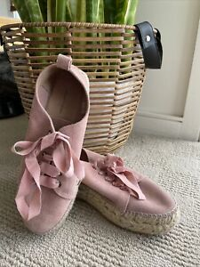 Country Road Womens Pink Espadrille Shoes Size 38