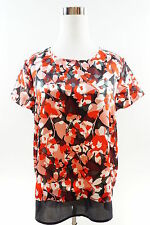 THE LIMITED Short Sleeve Floral Print Blouse Size L  Multicolor