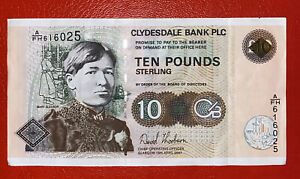 A Clydesdale Bank £10 Note In Good Condition.