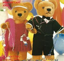 Evening Suit & Party Frock for Teddy Bears - Vintage Knitting PATTERN Clothes 69
