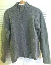 Samsoe Heavy 100% Wool Cable Knit Turtleneck Sweater Zipper, size L