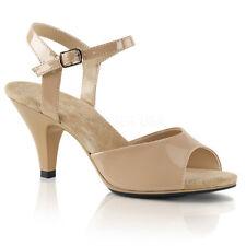 Black Low Heels Ballroom Sandals Mens Drag Queen Kitten Shoes Womans 13 14 15 16