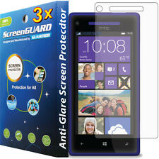 3x Anti-glare Anti-Fingerprint LCD Screen Protector HTC Windows Phone 8X 6990