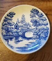 Vintage Nasco Hand Painted Lakeview Japan Trinket Dish - Delft Style