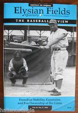 "1993 ""Elysian Fields Quarterly"" Baseball Review, Writings & Poetry Vol.12    ."