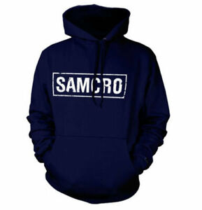 Officially Licensed Sons Of Anarchy SAMCRO Distressed Hoodie S-XXL Sizes