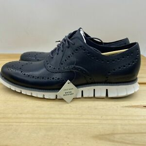 NEW Sz 10.5 Cole Haan Zerogrand Wingtip Oxford Navy Blue Athletic Casual C32124