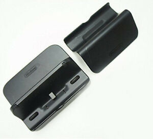 Genuine Nintendo Wii U Black Cradle & Stand Set Gamepad Charger Dock WUP-014 016