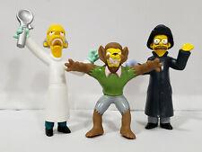 Simpsons Burger King Toys Ned Flanders Werewolf  Mr. Burns Figures The Simpsons