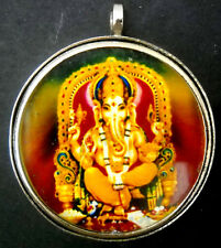 "German Silver Lord Ganesha Hindu God Pendant Spiritual Attractive (Size - 1.50"")"