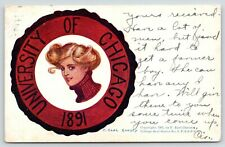 F Earl Christy~College Girl~University of Chicago Cheerleader in Seal~Turtleneck