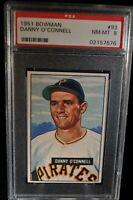 1951 Bowman - Danny O'Connell - #93 - PSA 8 - NM-MT
