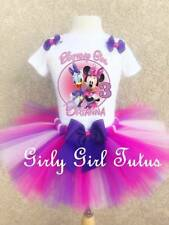 Personalized Minnie Mouse and Daisy Duck Birthday Outfit Set