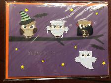 PAPYRUS HALLOWEEN CARD NIP MSRP $8.95 OWLS
